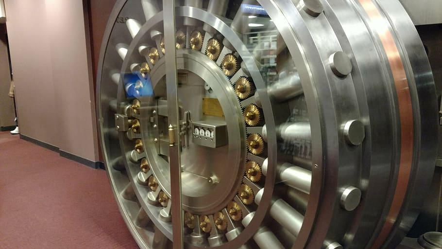 Secure Data Backup vault door